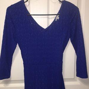 Royal blue tight fitting dress